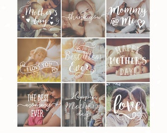 Photography overlays, Mothers day, Mommy and me, Mothers day clip art, photoshop overlay, social media template, text overlay, marketing