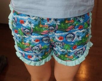 Girl's Summer Ruffled Shorts