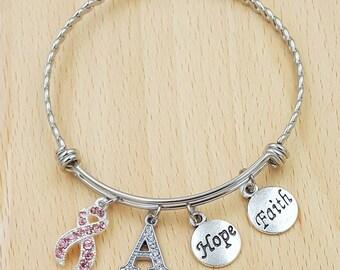 Breast Cancer Gifts Breast Cancer Bracelet Breast Cancer Awareness Breast Cancer Ribbon Breast Cancer Survivor Breast Cancer Jewelery