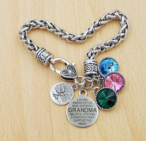 Grandma Bracelet Gifts for Grandma Grandma Gift Grandma Jewelry Gift from Grandkids Personalized Grandma Gifts