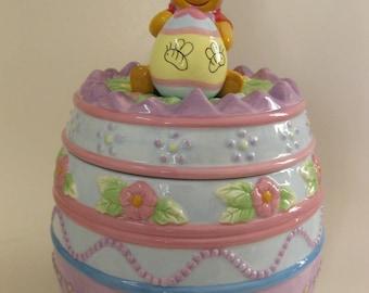 Winnie the Pooh Easter Cookie Jar