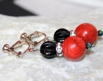 Clip earrings with screw cap, vintage ear, earrings, earrings, pearl earrings, earing, gift for women