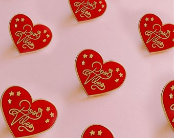 Posi Vibes Heart Enamel Pin