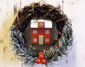 Homedecor/Miniatures/LittleWoodenHouses/Driftwood/Decor/Christmas/Wood house/Housewarming Gift/Miniature houses/Interior