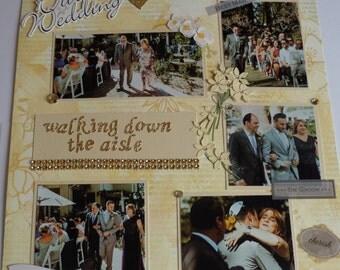 SCRAPBOOK CUSTOM WEDDING Album!!  Great gift to truly capture wedding memories!!!