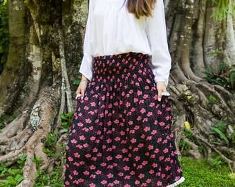 Edi Skirt-Dress, Skirt Dress Combo, Versatile Skirt, Boho Skirt, 104-142