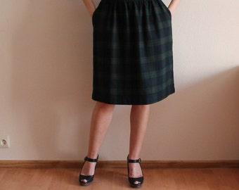 Tartan pencil skirt | Etsy