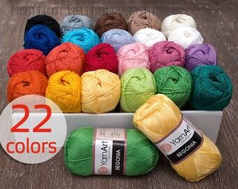 Mercerized cotton yarn Knitting yarn Crochet cotton yarn Knitting supplies Knit yarn Baby clothes Soft cotton yarn 50g ball 169 meters
