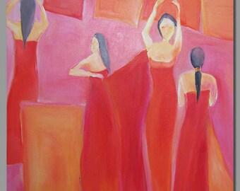 70 x 70 cm Washerwoman acrylic on canvas, ready to hang / washerwoman acrylic on canvas, ready to hang / praczka akryl, gotowy obraz
