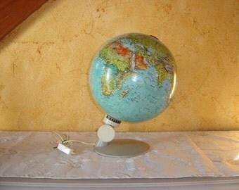 Scan globe A/S Danmark Havdrup . Earth map. Globe terrestre. Vintage 70's. Danemark