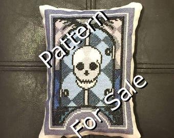 Tarot Series Cross Stitch Pattern - Death (#13)