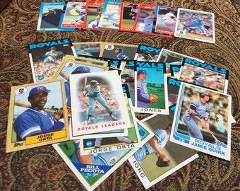 34 Kansas City Royals Baseball Cards 1980's