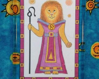 Zodiac Leo - Leo Magnet - Magnet Leo the Lion - Astrological Cat Magnet