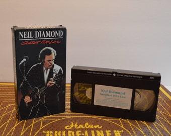 Neil Diamond Greatest Hits Live VHS