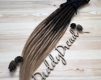 Ombre, double ended crochet synthetic dreads