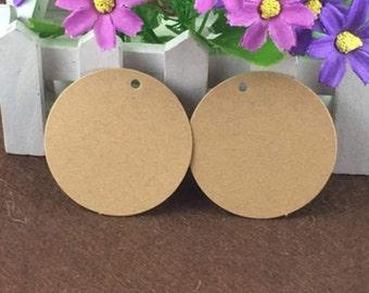 24 kraft paper labels 5 cm