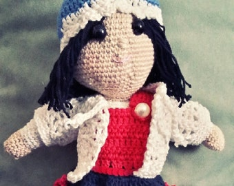 Handmade crocheted doll