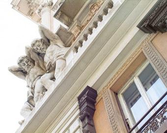 giants, Genoa, Italy, Italian architecture, Italy photography, Italian home decor, fine art photography, large wall art, soft tones, 24x16