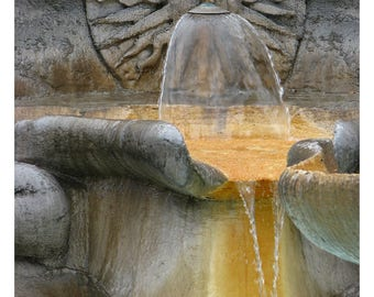 Roman fountain, Rome, Italy, Italian architecture, Italian home decor, fine art photography, Italy photography, Rome art print, 11x14 print