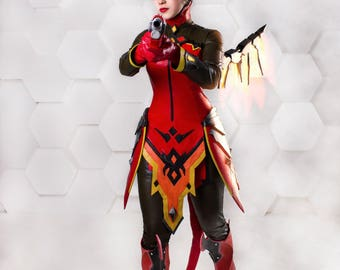 Game Overwatch - Mercy Devil skin cosplay costume(Dr. Angela Ziegler) Blizzard Entertainment + Free shipping!