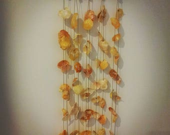 Seashell, Driftwood and Bead Wind Chime/ Wall Hanging