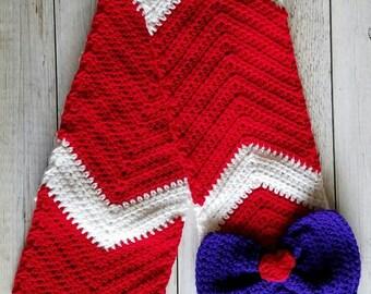 Crochet Sailor Moon Scarf, Sailor Mars Scarf, Sailor Mars Fan, Sailor Moon Scarf