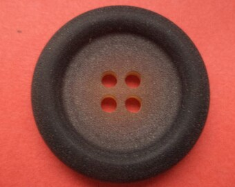 8 large buttons dark brown 28 mm (3848) Brown