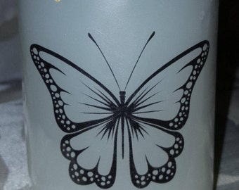 """Scented """"Butterfly"""" Candle/circle of life/spiritual rebirth/perfect gift idea"""