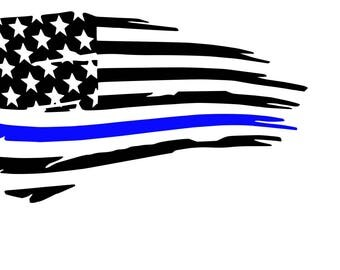 Back the Blue Car Decal- Police- IPad Decal- Macbook Decal- Tablet Decal-Vinyl Decal-