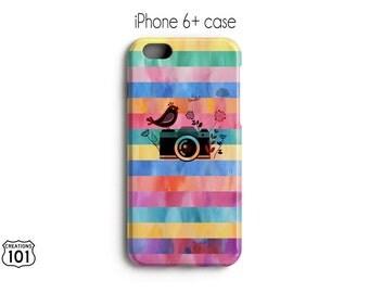Camera iPhone Case, Smile iPhone Case, Spring iPhone Case, Colorful iPhone Case, Rainbow iPhone Case, Plastic iPhone Case, IPC1021