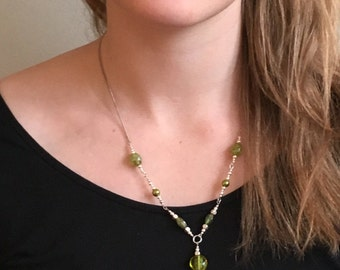 Beaded Olive Necklace