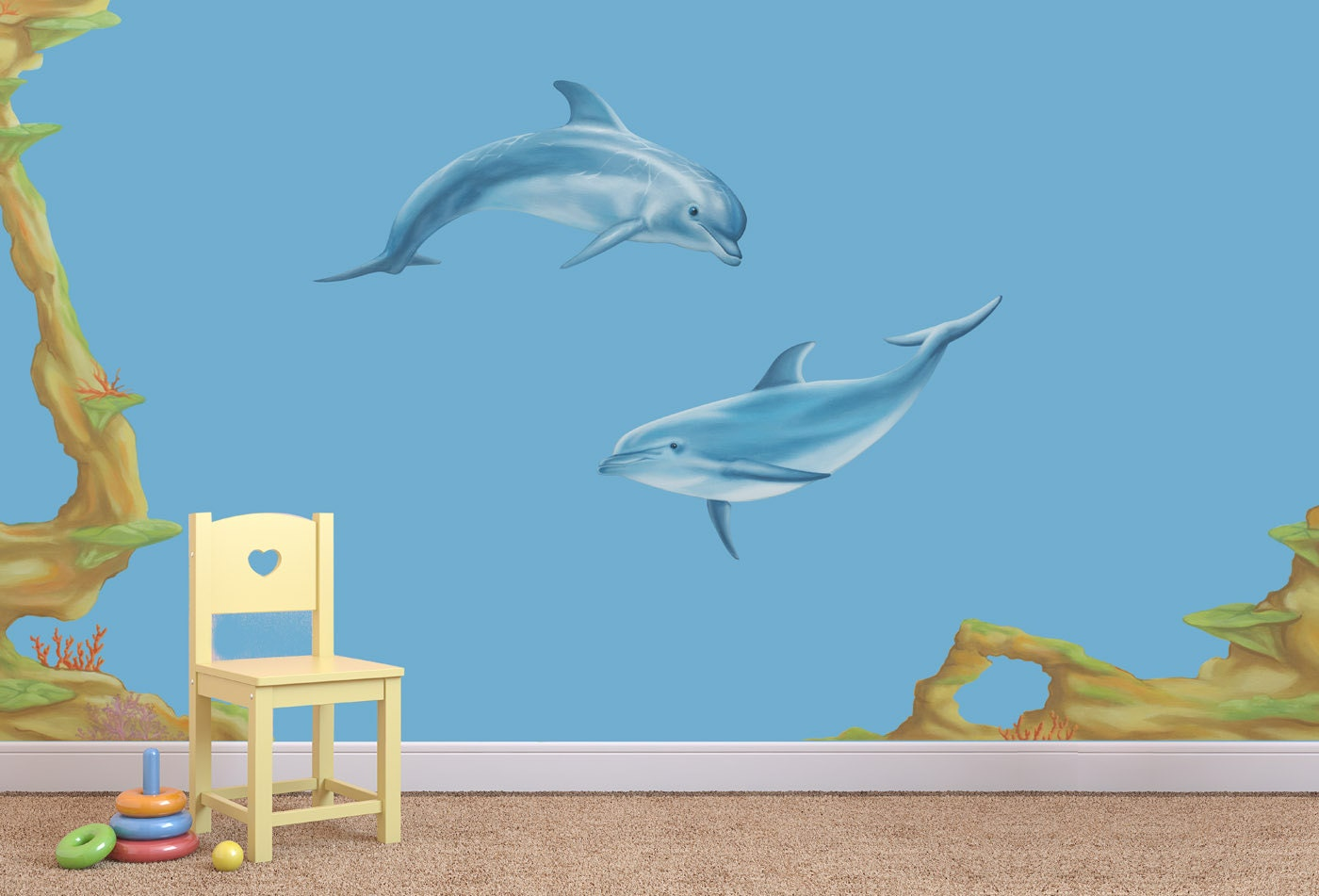 Dolphin wall decal dolphin wall stickers dolphin decal sea zoom amipublicfo Image collections