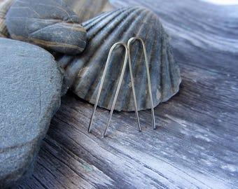 Long Threader Earrings Silver