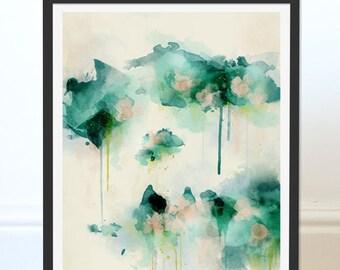 Green Abstract Print. Abstract Art. Green Art. Abstract Painting. Spring Dream Abstract Art Print. Digital Art Wall Art. Wall Decor.