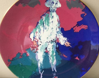 "Royal Doulton Leroy Neiman collectible ""Pierrot"" plate! Wall art!"