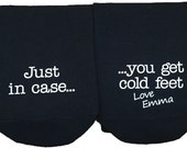 Personalised Just in case you get cold Feet Socks Wedding Socks Groom Socks Funny Wedding socks