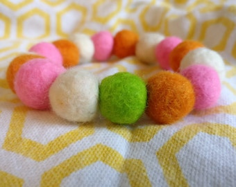 Pop of Green Felted Bracelet