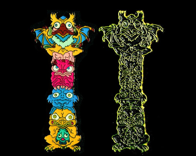 Monster Totem Lapel Pin (set of 2)