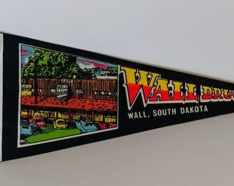 Wall Drug, Wall, South Dakota - Vintage Pennant