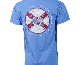 State of Mine: Florida Fastpitch Short Sleeve T-shirt, Softball Shirts, Softball Gifts, FL Softball - Free Shipping!