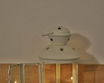 Vintage metallic white lantern / wedding lantern / wedding lanterns / wedding lantern centerpiece