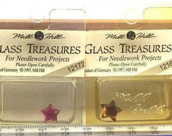 Mill Hill Treasures (Glass) Stars & Moons: ONLY ONE of Each Available Unless Otherwise Noted