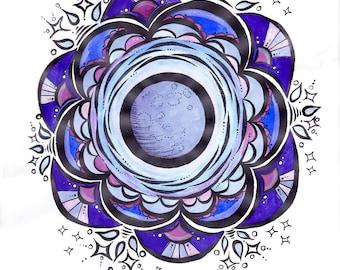 Full Moon Glory -print