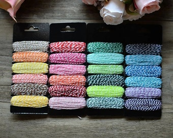 6 rocchette from 7.5 m of baker's twine cotton thread