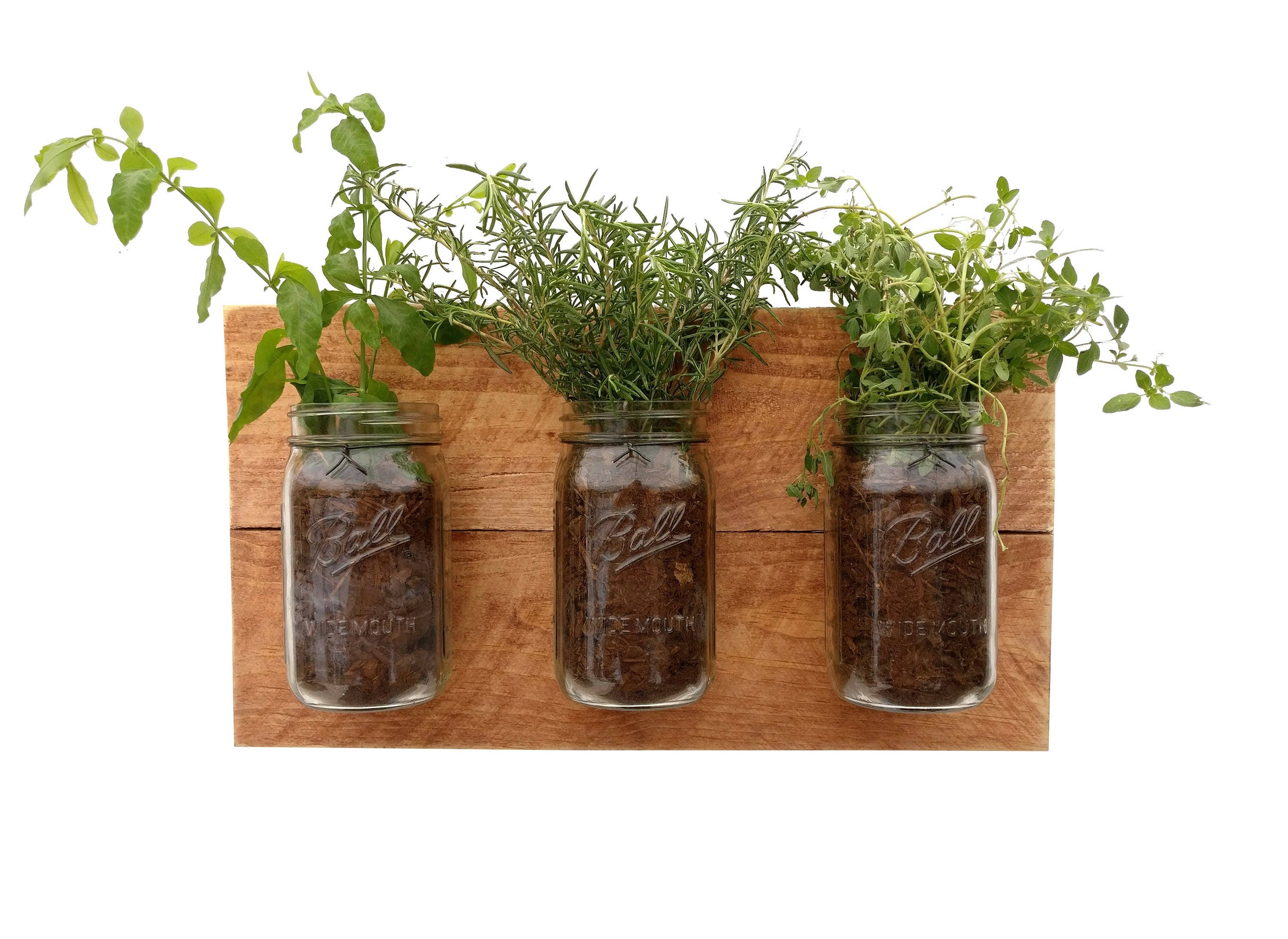 Herb Planter Reclaimed Wood Herb Planter Hanging Planter Indoor Herb