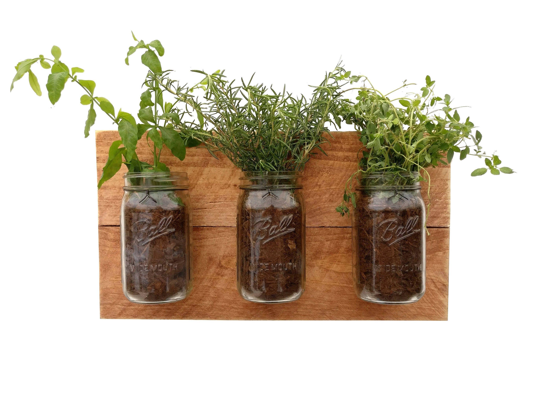Indoor Herb Planter Reclaimed Wood Herb Planter Hanging Planter Indoor Herb