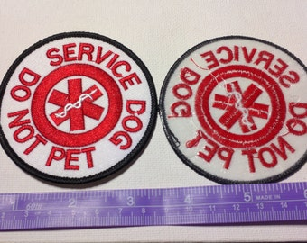 Service Dog Round Patch - Do Not Pet- patch FREE Shipping