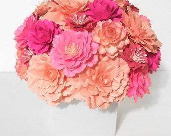 Paper Flower Arrangment | Custom Colors | Gift | Centerpiece