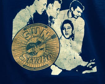 "Elvis, Jerry Lee Lewis, Johnny Cash, Carl Perkins ""Million Dollar Quartet"" Sun Records T-Shirt"