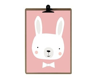 Rabbit poster / Decoration for children / the magic caravan